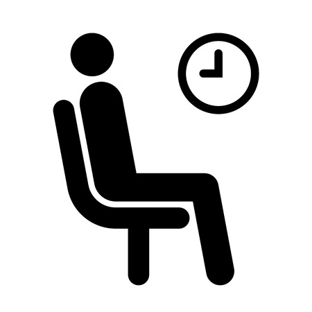 Illustration pour Waiting room symbol isolated on white background - image libre de droit