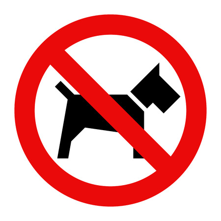 Illustration pour No dogs sign isolated on white background - image libre de droit