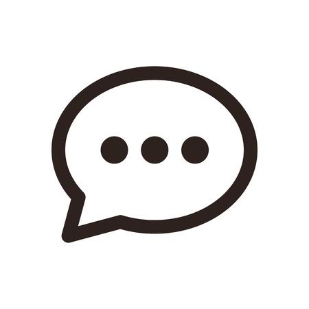 Ilustración de Chat icon  isolated on white background - Imagen libre de derechos