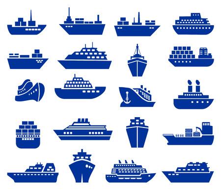 Illustration pour Ship and boat icon set. Vector illustration - image libre de droit