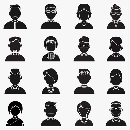 People Silhouettes Icon. Vector avatar