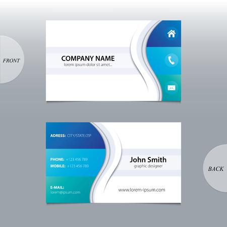 Illustration pour Vector abstract business cards   - image libre de droit