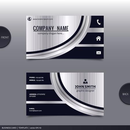 Illustration pour Business card template, modern abstract design. Vector. - image libre de droit