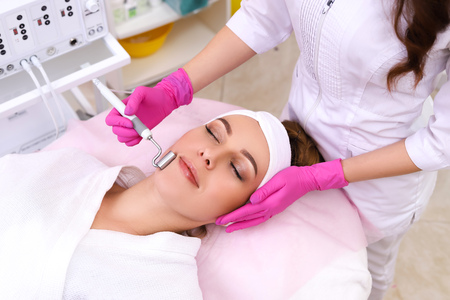 Photo for The device is facial cosmetology. - Royalty Free Image