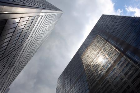 Photo pour Skyscrapers in downtown Toronto, Ontario, Canada - image libre de droit