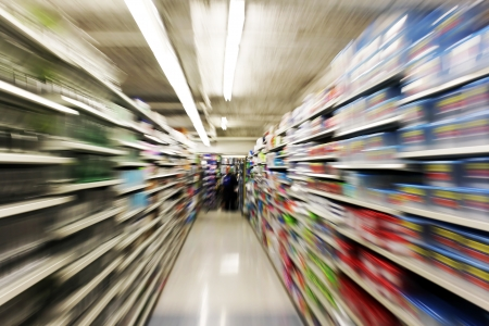 Photo pour Store interior motion blur - image libre de droit