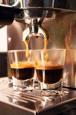 Photo for coffee machine preparing cup of coffee. - Royalty Free Image