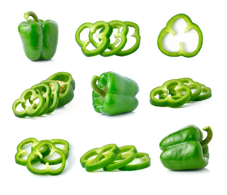 Photo for green pepper isolated on white - Royalty Free Image