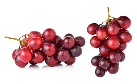 Photo for red grapes isolated on white background. - Royalty Free Image