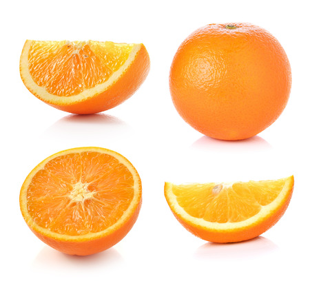 Photo pour Orange fruit isolated on white background - image libre de droit