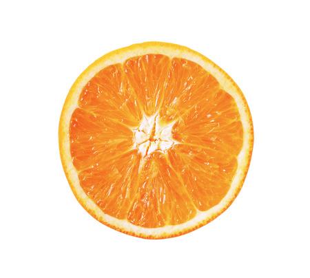 Photo pour slice of orange fruit isolated - image libre de droit