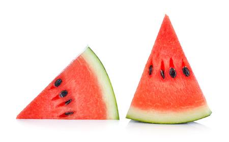 Photo pour Sliced ripe watermelon isolated on white background - image libre de droit