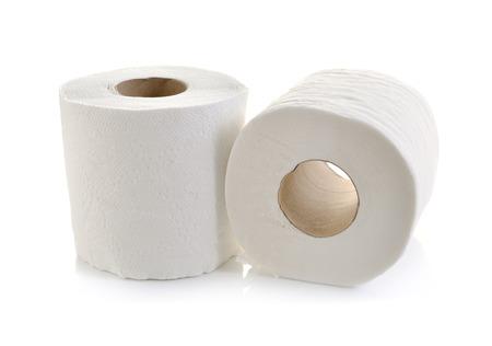 Foto de toilet paper isolated on white - Imagen libre de derechos