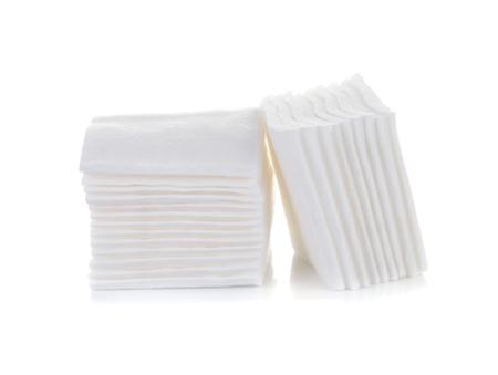 Foto de cotton cosmetic pad isolated on white - Imagen libre de derechos