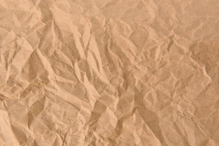 Photo pour Vintage old crumpled brown paper texture use for background - image libre de droit
