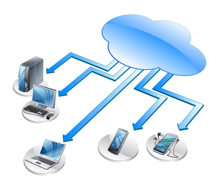 Foto de cloud computing networking technology - Imagen libre de derechos