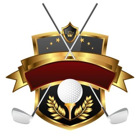 Illustration for Emblem of sport champion Golf - Royalty Free Image
