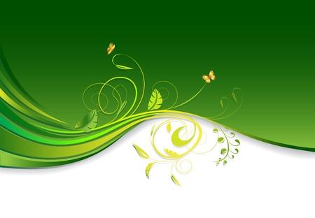 Ilustración de floral ornament design with copy space - Imagen libre de derechos
