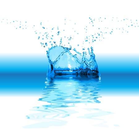 Splash water isolated on white background