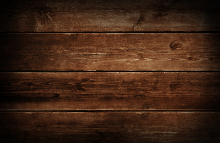 Photo for Dark wood background with grunge weathered and aged brown wooden texture. - Royalty Free Image