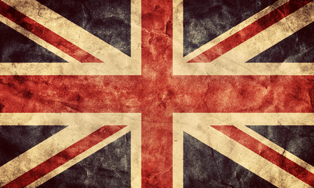 Photo pour The United Kingdom or Union Jack grunge flag. Vintage, retro style. High resolution, hd quality. Item from my grunge flags collection. - image libre de droit