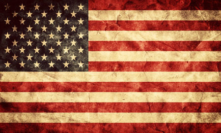 Photo for USA grunge flag. Vintage, retro style. High resolution, hd quality. Item from my grunge flags collection. - Royalty Free Image