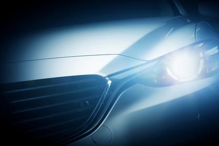 Foto de Modern luxury car close-up background. Concept of expensive, sports auto. - Imagen libre de derechos