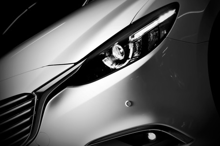 Photo pour Modern luxury car close-up background. Concept of expensive, sports auto. - image libre de droit