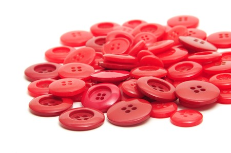 Foto de red buttons isolated on a white background - Imagen libre de derechos