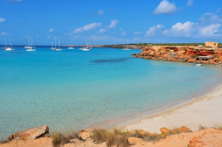 view of Cala Saona Beach th