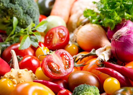 Photo pour fresh vegetables as background - image libre de droit
