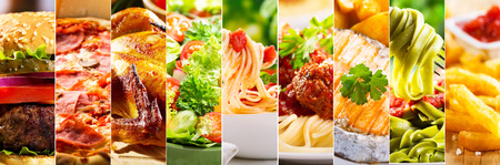 Foto per collage of various food products - Immagine Royalty Free