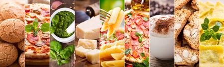 Foto de food collage of various italian cuisine - Imagen libre de derechos