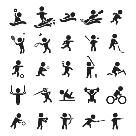 Foto per Sport icons set - Immagine Royalty Free
