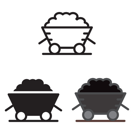 Illustration for Coal trolley icon vector illustration. - Royalty Free Image