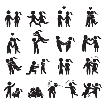 Photo for Love and couple icon set. Vector. - Royalty Free Image