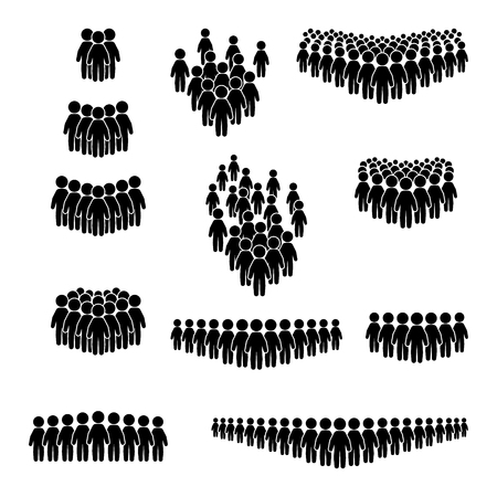 Illustration pour Crowd icon set. People icon set. Vector. - image libre de droit