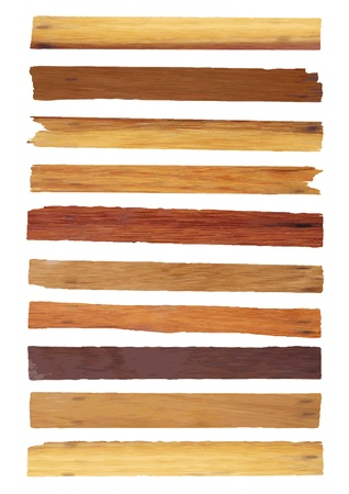 Illustration pour Old Wood plank isolated on white background  - image libre de droit