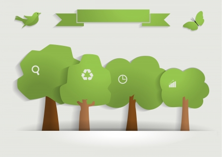Illustration for Nature banner idea concept, Vector illustration modern template design - Royalty Free Image
