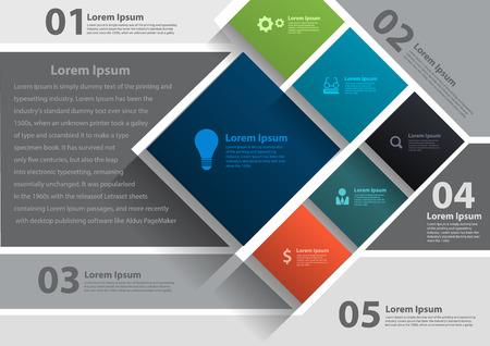 Illustration pour Vector layout template design, brochure, flyer, magazine cover, poster banner - image libre de droit