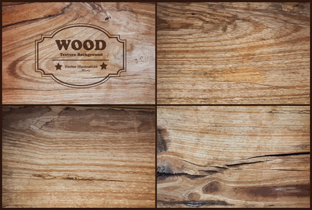Illustration for Vector wood texture background - Royalty Free Image