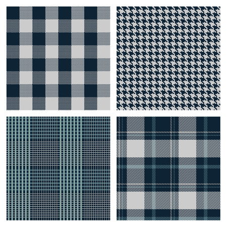 Illustration for vector seamless checked patterns - Royalty Free Image