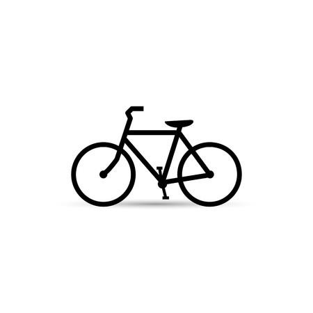 Illustration of a bicycle isolated on a white background.