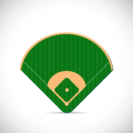 Illustration pour Illustration of a baseball field design isolated on a white background. - image libre de droit