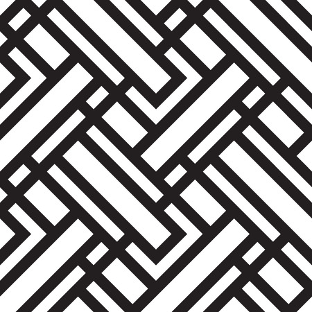 Ilustración de Vector seamless pattern, black and white geometric background. - Imagen libre de derechos