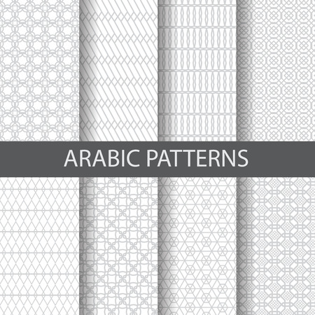 Foto de 10 arabic, islamic  patterns,  Pattern Swatches, vector, Endless texture can be used for wallpaper, pattern fills, web page,background,surface - Imagen libre de derechos