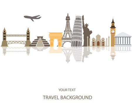 Ilustración de world travel background - Imagen libre de derechos