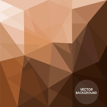 Ilustración de abstract coffee brown background,  low poly and hipster design, texture can be used for wallpaper, pattern fills, web page background,surface textures. text can be edited, - Imagen libre de derechos