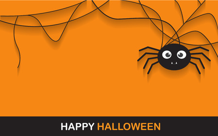 Illustrazione per halloween spider concept.  banner background for Halloween Party night - Immagini Royalty Free