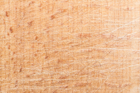 Photo for wood texture, surface of a cutting board made of beech has many scratches, abstract background - Royalty Free Image